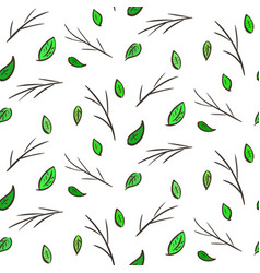 seamless pattern with leaves and branches vector image vector image