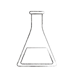 sketch blurred silhouette image glass beaker for vector image vector image