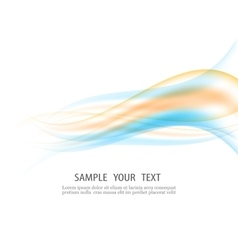 Abstract wave design element vector image vector image