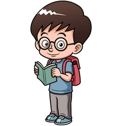 Boy go to school vector image vector image