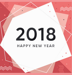 modern new year 2018 vector image vector image