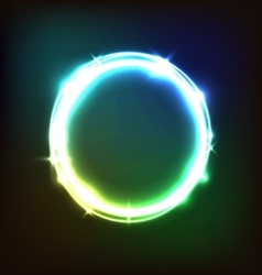 Abstract glowing colorful background with circles vector
