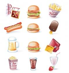 cartoon icons vector image vector image