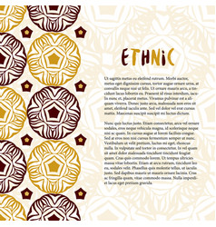 Decoration with ethnic ornament tradition texture vector