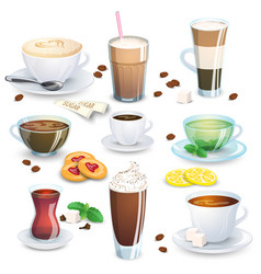 set of non-alcoholic beverages vector image