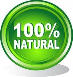 100 percent natural symbol vector image