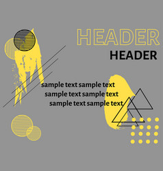 abstraction with text vector image