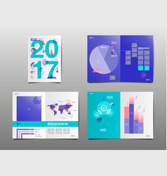 Annual report 2017 template layout design cover vector