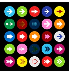Arrow Icon set arrows in circle buttons vector image