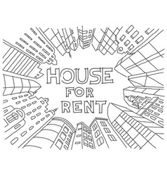 Background for text on the rental of real estate vector