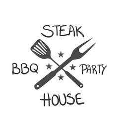 bbq steak bbq party house image vector image