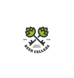 Beer cellars logo vector