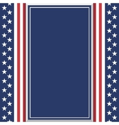 Blank abstract American background vector