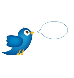Blue bird with speech bubble vector image