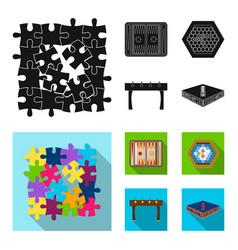 Board game black flat icons in set collection for vector