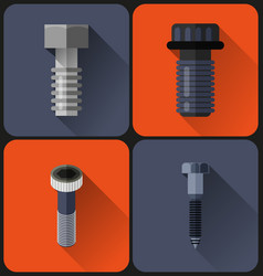 bolt flat design vector image