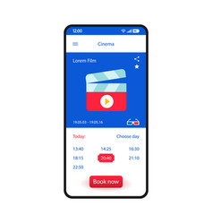 Booking tickets smartphone interface template vector