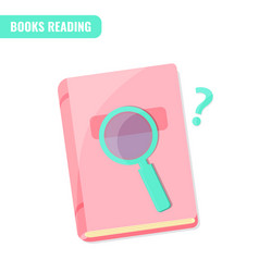 Books reading books research concept vector