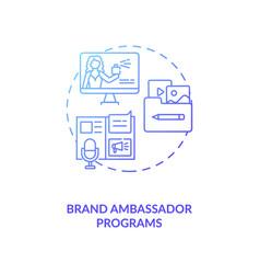 Brand ambassador programs concept icon vector