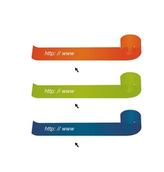 Bright color tapes from the browser vector image