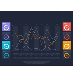 Business infographics concept with online index vector image