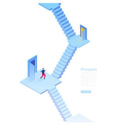 Business prospect - modern isometric web vector