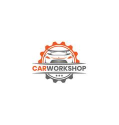 car workshop logo design template inspiration vector image