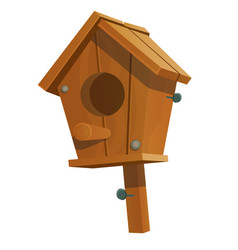cartoon birdhouse isolated on white background vector image