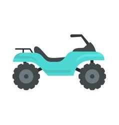 Challenge quad bike icon flat style vector