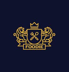 Coat of arms foodie vector