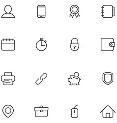 Concept icons material design style vector