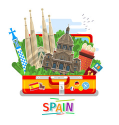 Concept of travel or studying spanish vector
