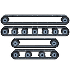 Conveyor Belt With Wheels Pack vector