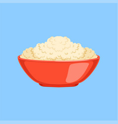 cottage cheese in a bowl fresh and healthy dairy vector image