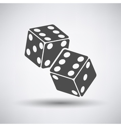Craps Cubes Icon vector