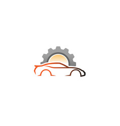Creative auto repair car logo design vector