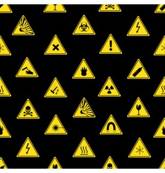 danger signs types seamless pattern eps10 vector image