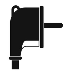 Europe plug icon simple style vector