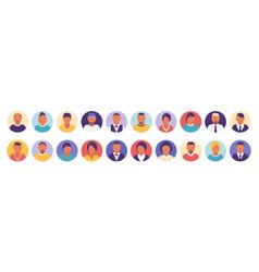 Flat modern minimal avatar icons business concept vector