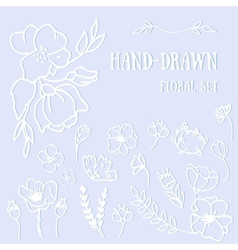 Flower hand-drawn sketch for your design vector image