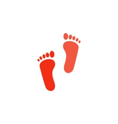 Footprints Icon vector
