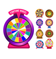 fortune wheel gambling and casino roulette vector image