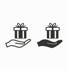 gift box surprise icon vector image