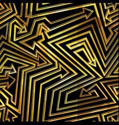 gold color geometric arrows pattern vector image