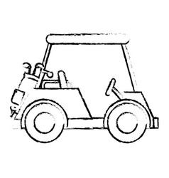 golf car isolated icon vector image