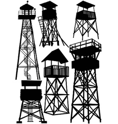 guard watch tower vector image