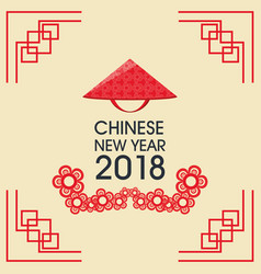 happy chinese new year 2018 greeting card vector image