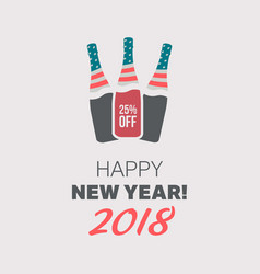 Happy new year banner vector