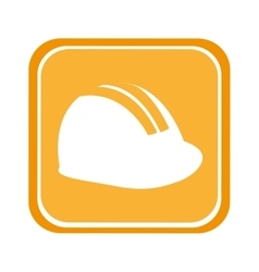 Helmet construction tool equipment icon vector