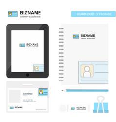 Id card business logo tab app diary pvc employee vector